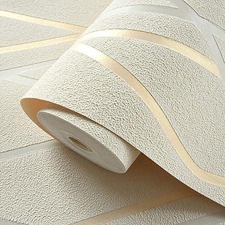 Papier Peint Intisse Nue A Bandes Courbes 3d Pour Murs