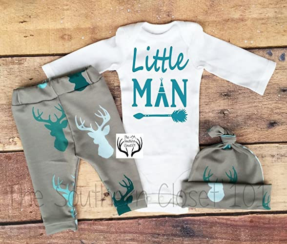 2a0551961 Amazon.com  Baby boy Coming Home Outfit Boys Clothing Clothes ...