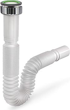 Siphonly® Tubo de Desagüe Flexible – Tubo PVC para Lavabos, Fregaderos de Cocina y Baño – Plomería Útil – Evita Olores y Drena Agua Estancada: Amazon.es: Electrónica