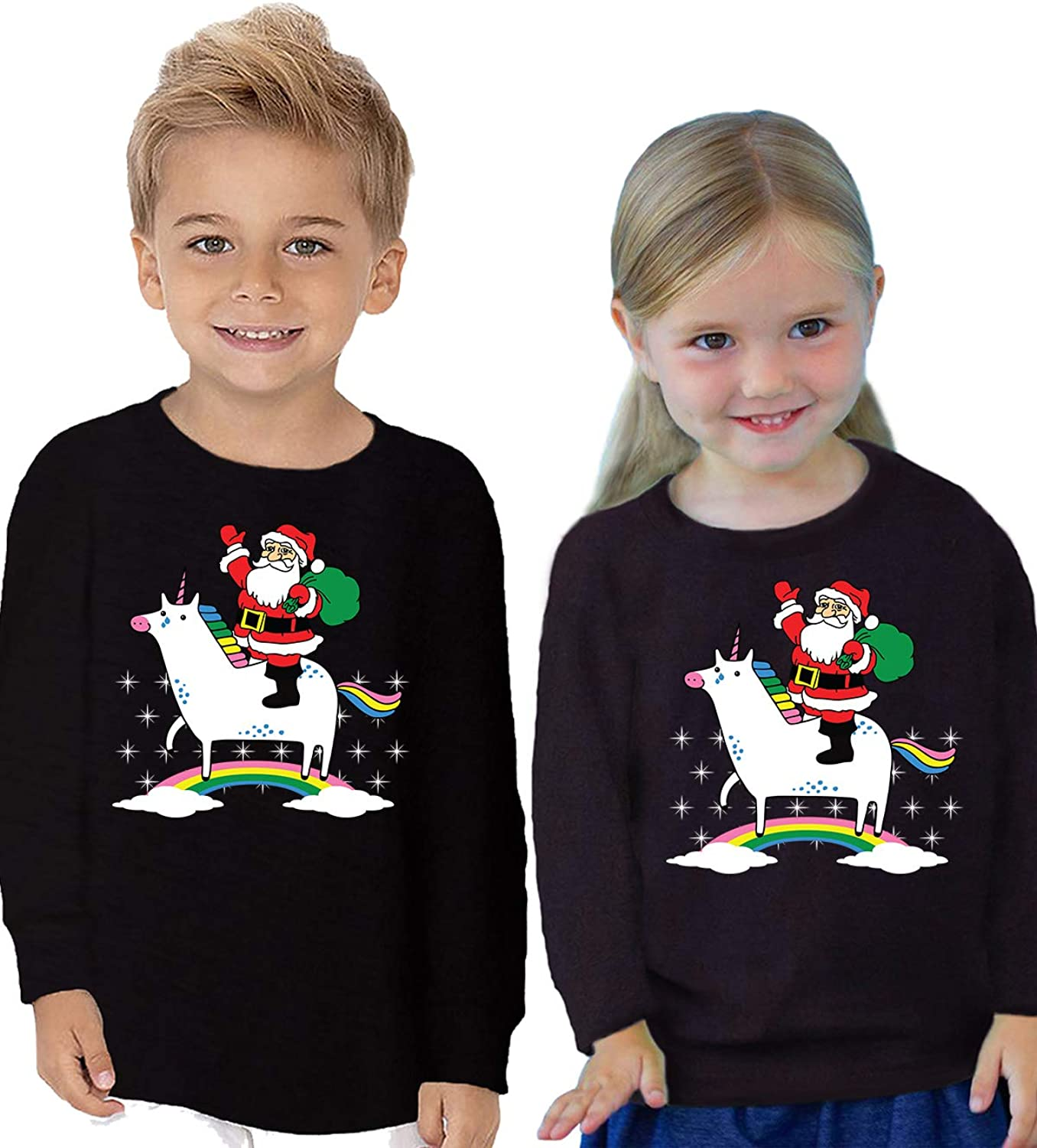 Awkward Styles Ugly Xmas Long Sleeve Shirt for Boys Girls Toddler Christmas Snowman Sketch Shirt