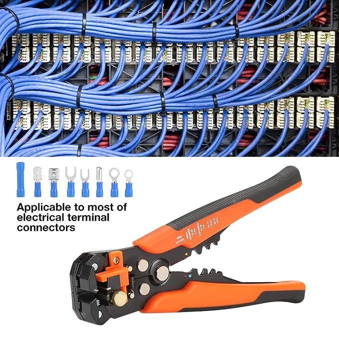 Pelado de cables - 1 pieza Cable Herramienta de alicate de crimpadora de trinquete de alambre + 400 pcs Conectores de terminales eléctricos, ...