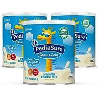 Pediasure Powder Grow & Gain Non-GMO Shake Mix Powder, Nutritional Shake for Kids, with Protein, DHA, Antioxidants, and…