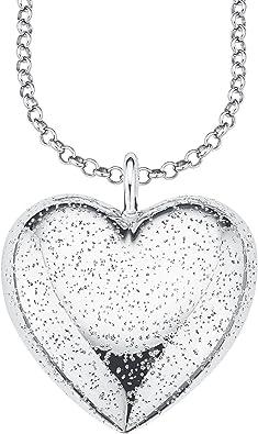 s.Oliver Damen Kette mit Anhänger Herz (gravurfähig) 925 Silber rhodiniert 75 cm 561068