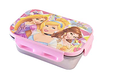 bda1cccbe3f4 ThemeHouseParty Disney Princess Cartoon Print Tacos Steel Lunch Box for  School Going Children, Boys, Girls, Return Gift, Birthday Gifts