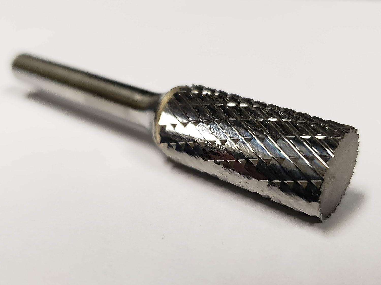 "Cylindrical Cut Tungsten Carbide Burr Bur Cutting Tool Die Grinder Bit 1//4/""A+"