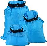 UEETEK 3pcs 1.5L+2.5L+3.5L Waterproof Dry Bag for Camping Boating Kayaking Rafting Fishing(Sky Blue)
