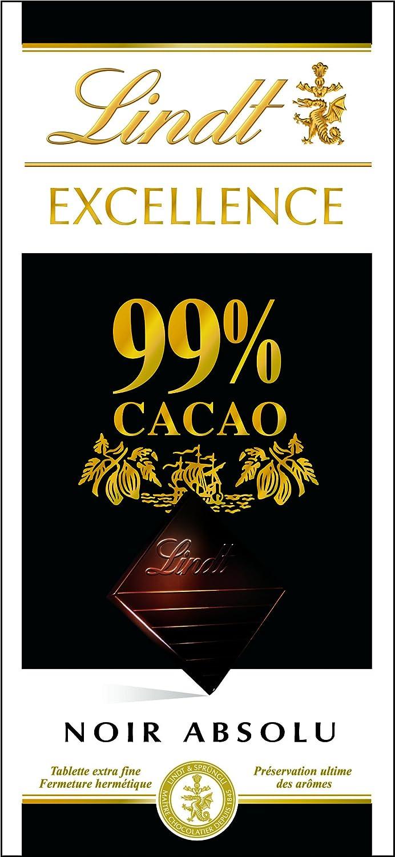 Lindt & sprngli Excellence 99%, 1er Pack (1 x 50 g): Amazon.es: Alimentación y bebidas