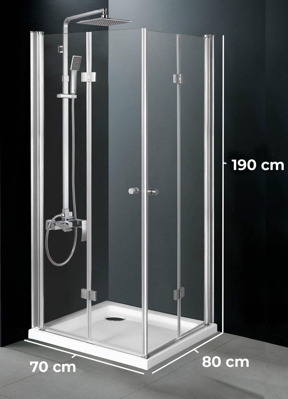 Cabina de ducha Pattaya 70 x 80 cm transparente.: Amazon.es: Jardín