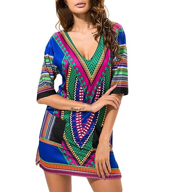Vestidos Mujer Elegantes Vintage Boho Etnicas Estilo Niñas Ropa Casual Vestidos Cortos Primavera Verano Manga Corta