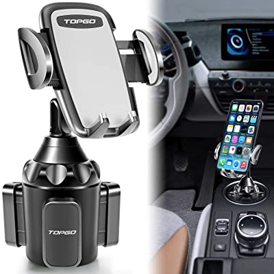 [Upgraded] Car Cup Holder Phone Mount Adjustable Automobile Cup Holder Smart Phone Cradle Car Mount for iPhone 11 Pro/XR/XS Max/X/8/7 Plus/6s/Samsung S10+/Note 9/S8 Plus/S7 Edge(Grey)
