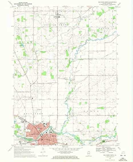 Amazon Com Yellowmaps Belvidere North Il Topo Map 1 24000 Scale