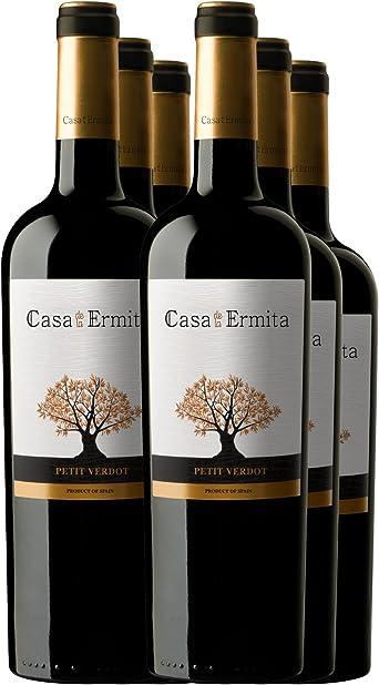 Casa de la Ermita Petit Verdot, Vino Tinto Crianza - pack de 6 x 750 ml: Amazon.es: Alimentación y bebidas