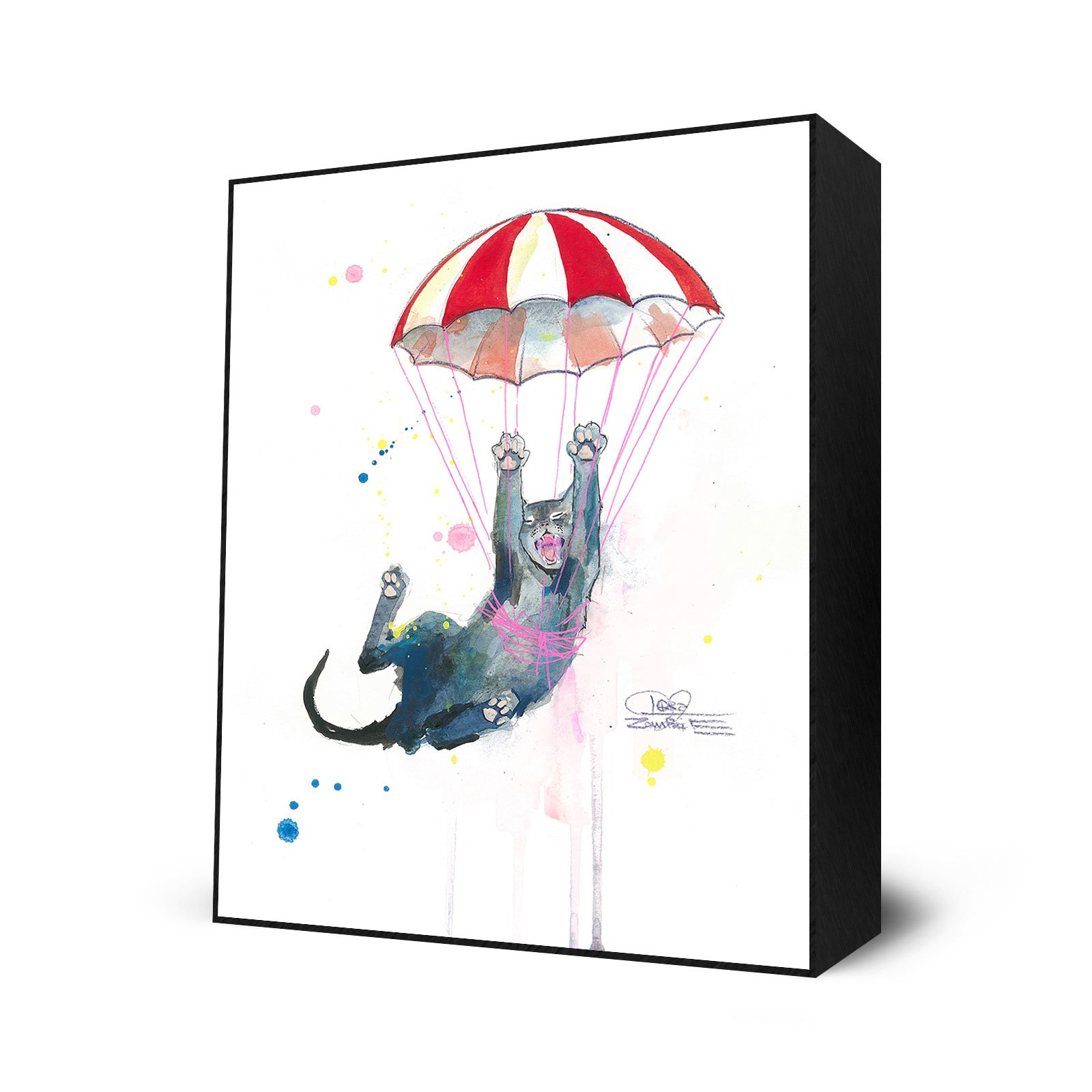 Parachute Cat by Eyes On Walls