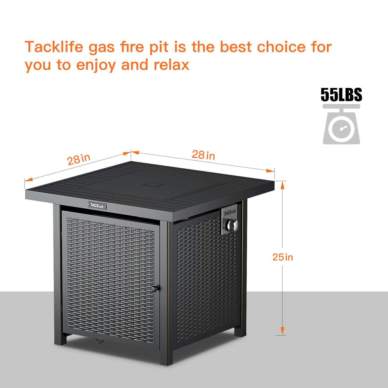 Amazon.com: Tacklife Fogata con tapa para exteriores ...