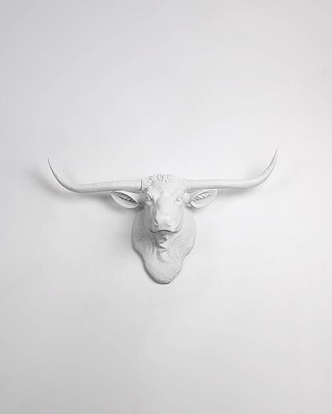 Resin Wall Mount Decorative Bull Head Faux Taxidermy Art Decor