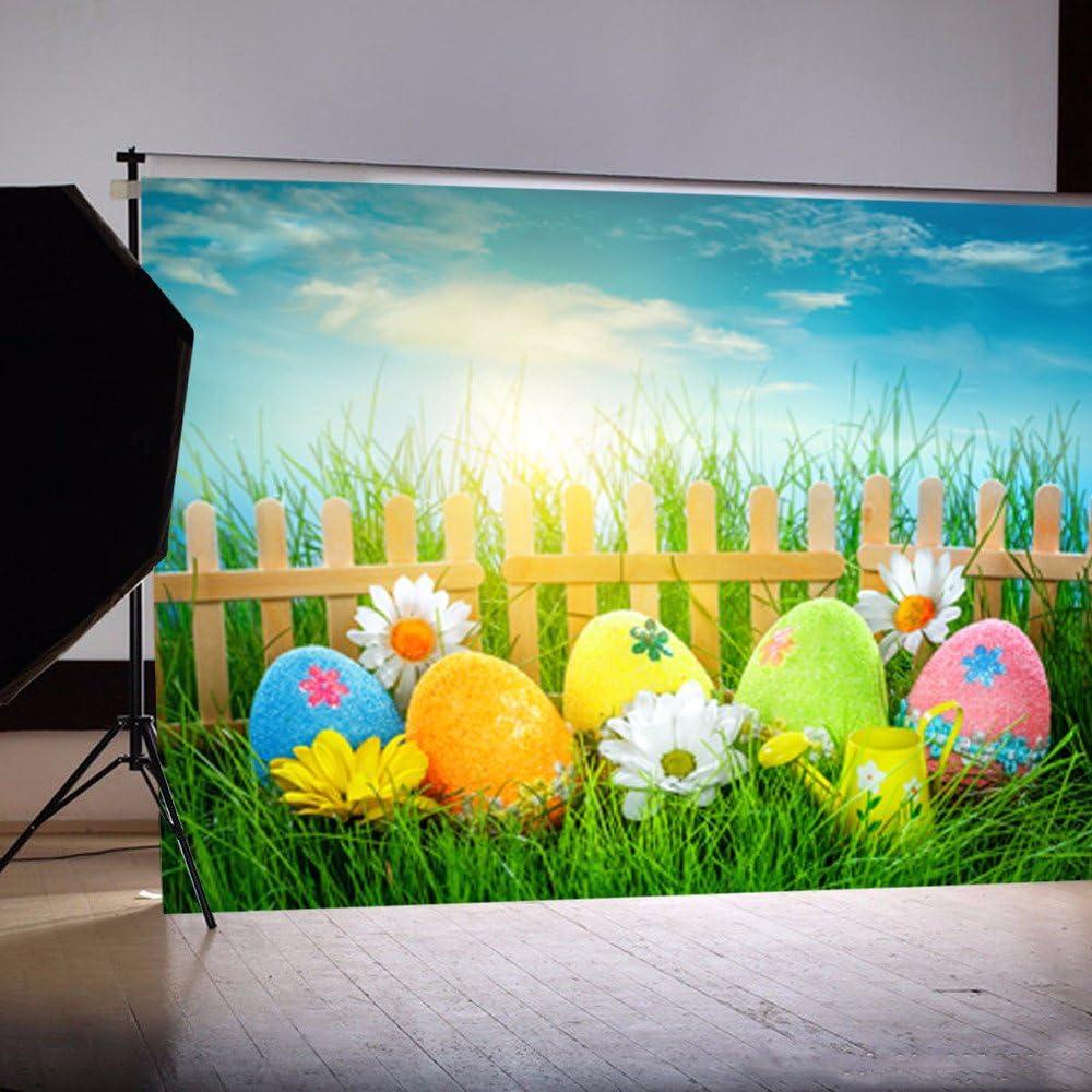 Jour de P/âques th/ème Photographie en Vinyle Toile de Fond personnalis/é Accessoires 150cm Joyeuses P/âques Toile De Fond Serria 90