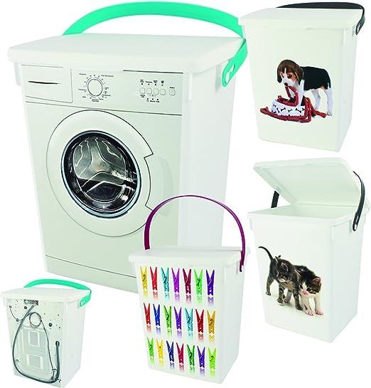 Caja Contenedor Caja de detergente Pinzas de ropa de caja animal ...