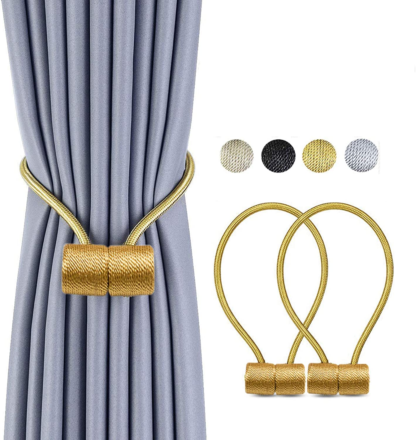 Home Decor Window Magnetic Curtain Buckle Holder Tieback Tie Backs Drapes Clip