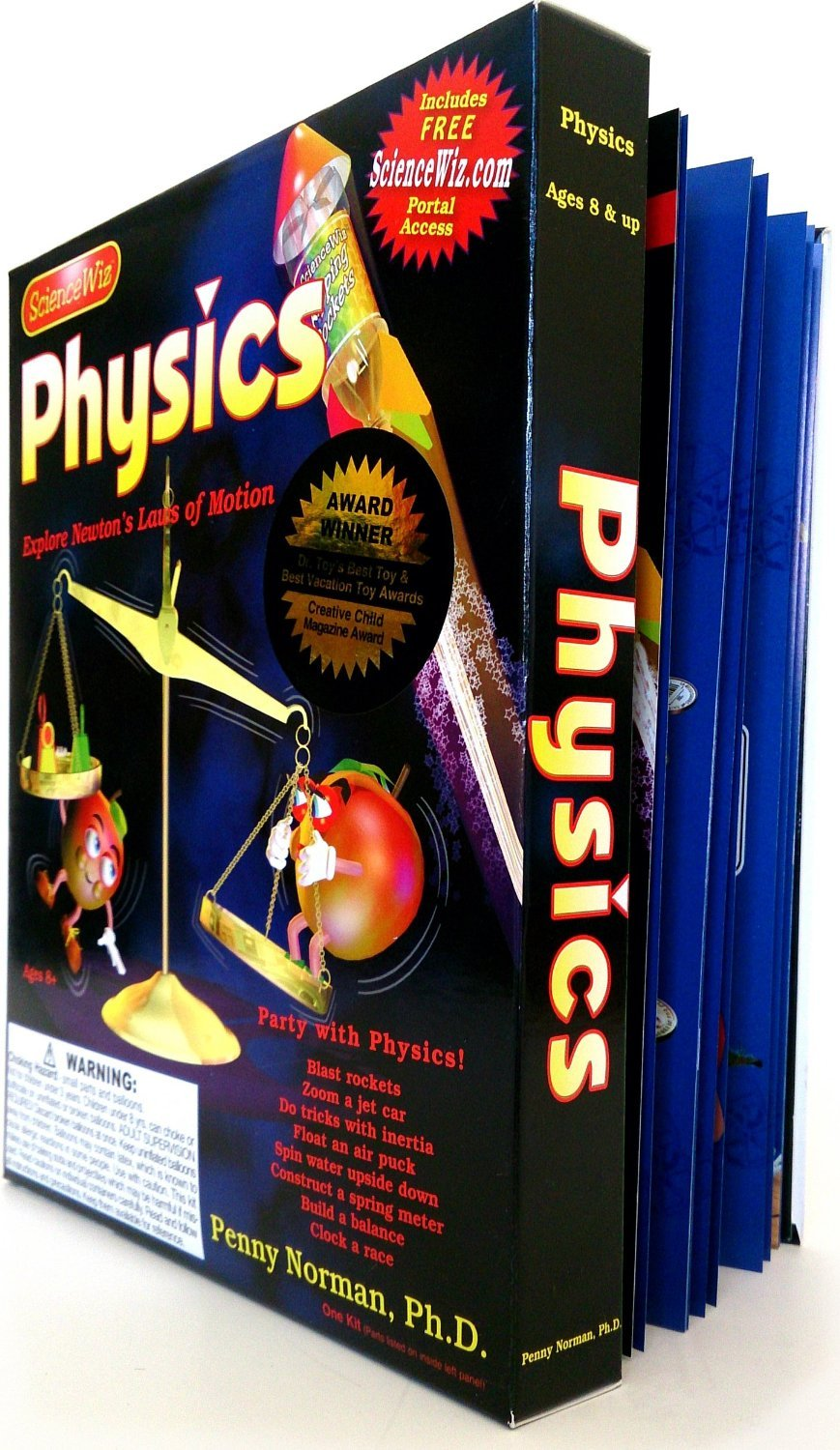 ScienceWiz Physics Experiment Kit and Book 24 Experiments, Motion