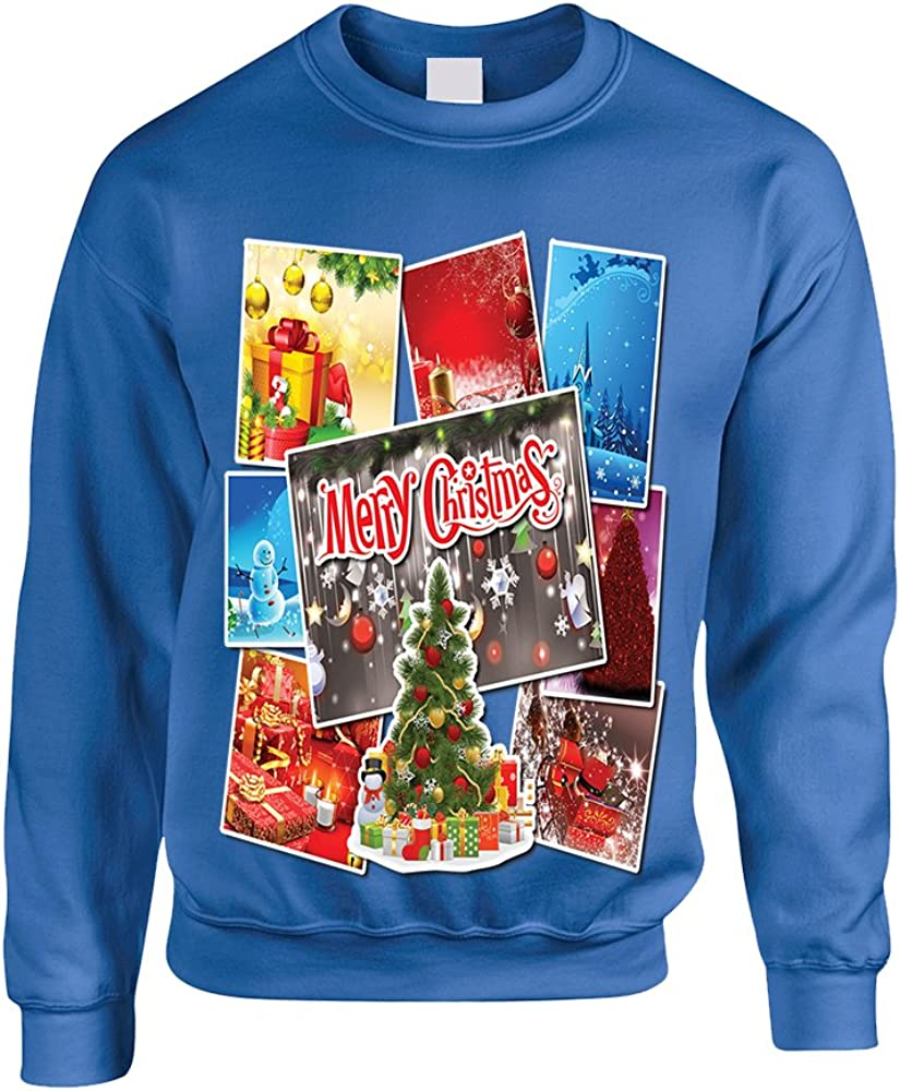 Allntrends Adult Sweatshirt Christmas Postcards Holiday Graphic Gift Idea
