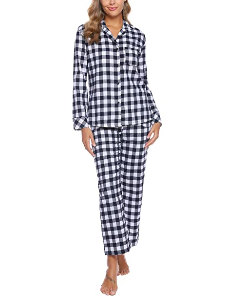 Mujer Iclosam Pijama Mujer Invierno Dos Piezas Cuadros Pijama Camiseta Y Pantalones Largos Pijamas Casual Ropa De Casa Dormir Calido Y Comodo S Xxl Ropa Grupobrtelecom Com Br