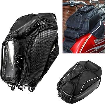 Tankrucksack Motorrad Magnet Wasserdichte Oxford 48 5 37 Cm Universal Rücksitz Satteltasche Reisen Werkzeugkasten Schwanz Gepäck Auto