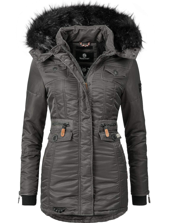 3cc8101ff Navahoo Schätzchen Ladies' Winter Puffer Jacket with Faux Fur Hood 11  Colors XS-XXL