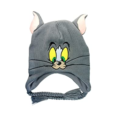8ae6d3996bf Tom and Jerry - Beanie Tom Grey  Amazon.co.uk  Clothing