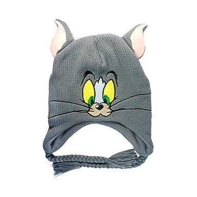 Tom and Jerry - Beanie Tom Grey  Amazon.co.uk  Clothing f668cfa8c930