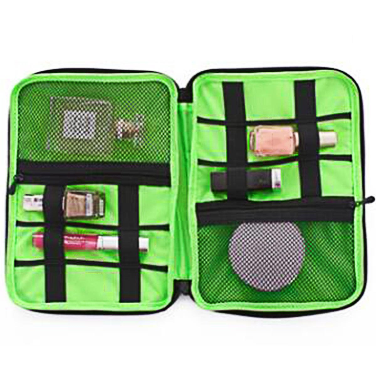 Rainproof Toilet Article Suitcase - Travel Cosmetic Bag Toiletry Portable Makeup Storage Woman Organizer Necessary - Cup Tea Traveling Udder Pocketbook Tight Purse Raincoat - 1PCs