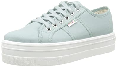 Victoria Unisex Adults Basket Lona Plataf. Low-Top Sneakers Green Size: 2