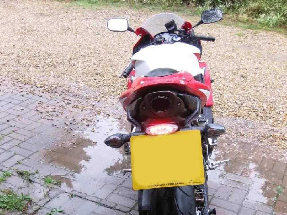 Luz Marca E a Medida Lente Transparente LED Trasero Luz Freno Motocicletas Trike Scooter