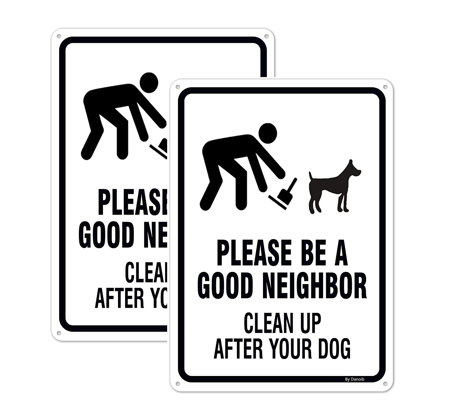2-Pack Please Be a Good Neighbor - Clean Up After Your Dog Signs 14
