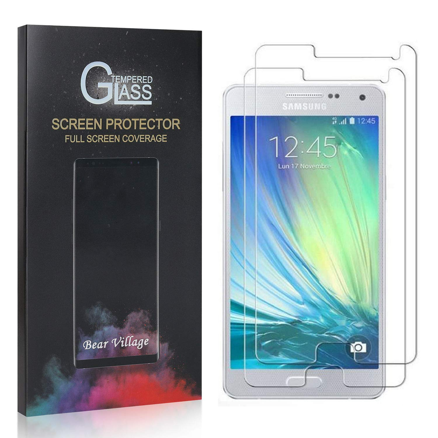 2 Pack Screen Protector for Galaxy A5 2015 Bear Village Ultra Clear Tempered Glass Screen Protector for Samsung Galaxy A5 2015 Anti Fingerprint Screen Protector Glass