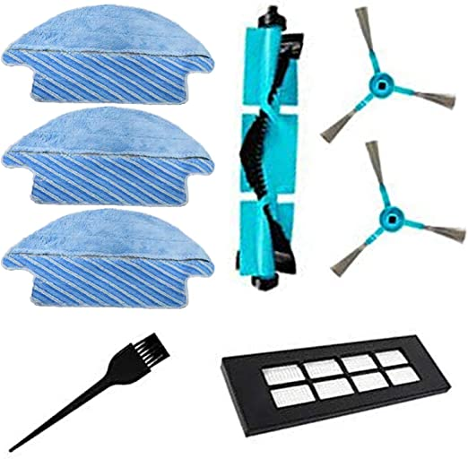 Simuke 1 cepillo principal 1 Filtrar 2 cepillo lateral 3 paños para Cecotec Consumibles para Congas Serie 3090 Robot Con 1 herramienta de limpieza gratuita.: Amazon.es: Hogar