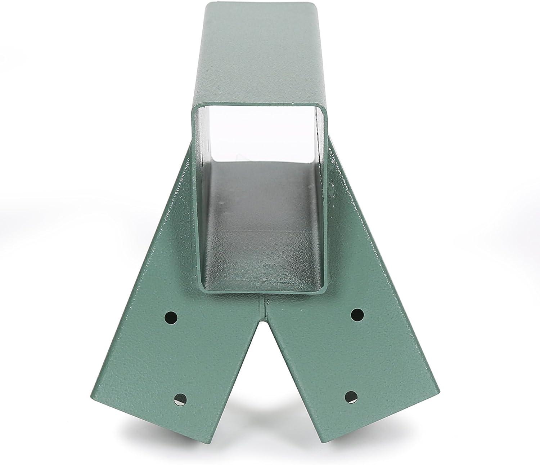 2 Brackets 1-2-3 A-Frame Swing Set Green Powder-Coated Heavy Duty Steel