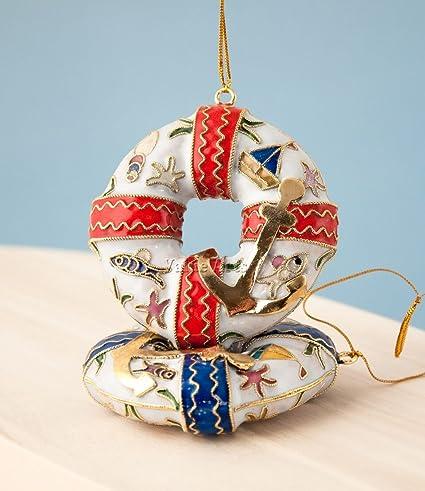 Amazon.com: Christmas Ornaments, 2 Piece Set Handmade Cloisonne ...