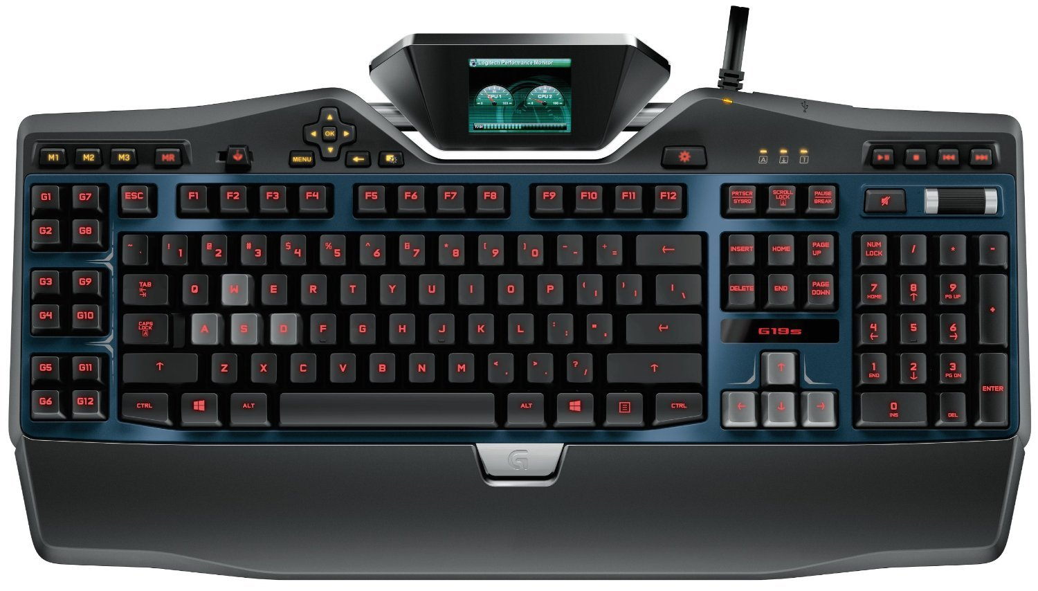 Logitech G19s Gaming Keyboard with Color Game Panel Screen