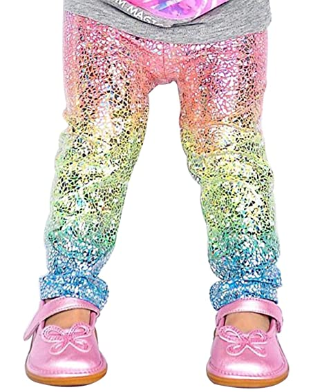 6aca4b3ceeb75 Jojobaby Toddler Baby Girl's Mermaid Shiny Gradient Color Stretch Pants  Youth Athletic Workout Leggings Casual Long