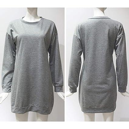 Women Hoodie Sweatshirt Casual O-Neck Loose Oversized Hoodie Dress Autumn Long Sleeve Hoodies Sweatshirts Sweat Femme S-XL at Amazon Womens Clothing store: