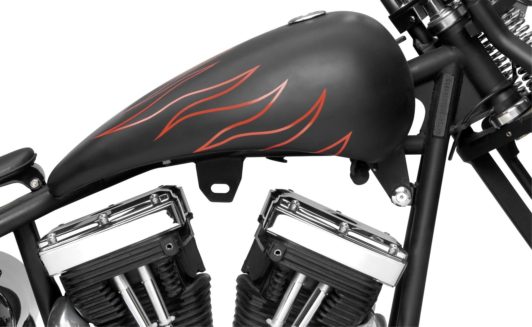 Bikers Choice Stretched Gas Tank for Screw Cap 011675 by Biker's Choice (Image #1)