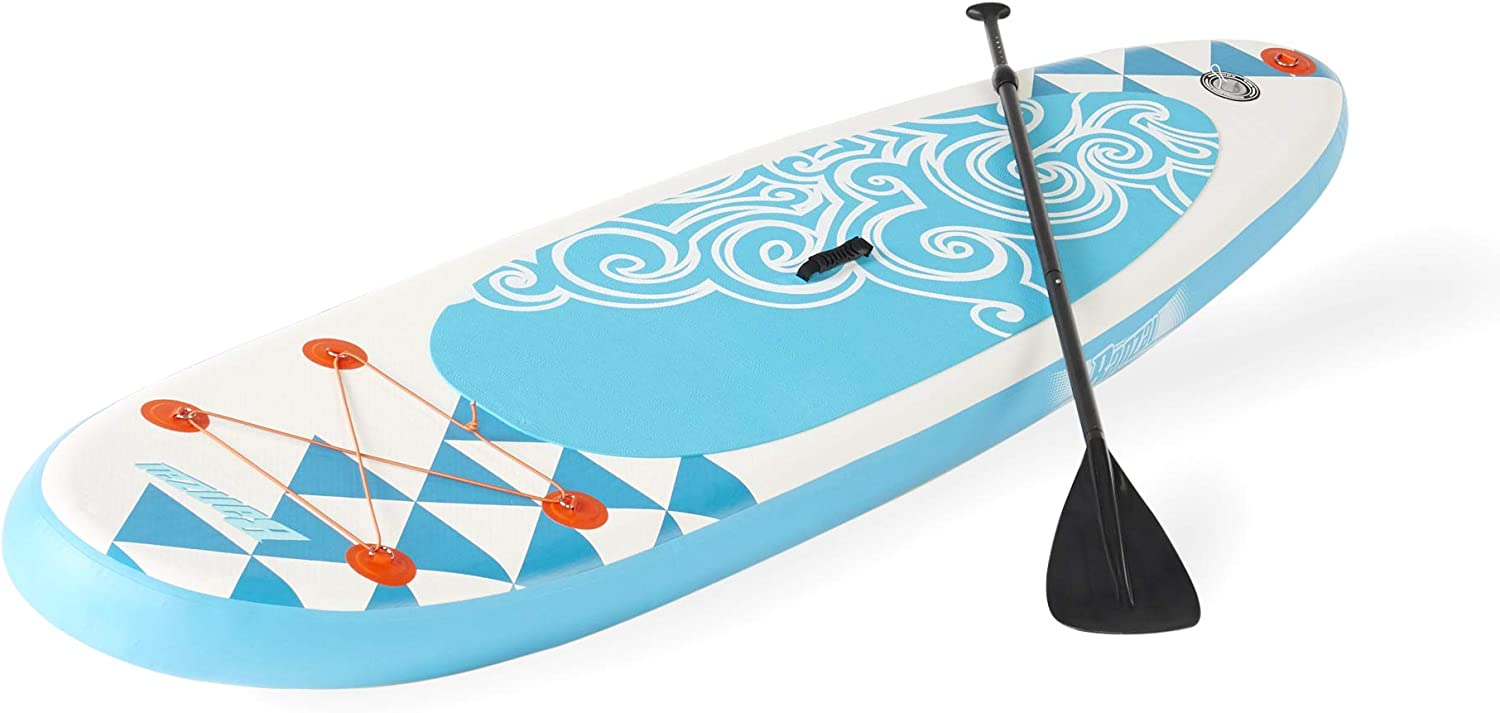 BANZAI Inflatable SUP Stand Up Paddle Board w Adjustable Paddle Backpack