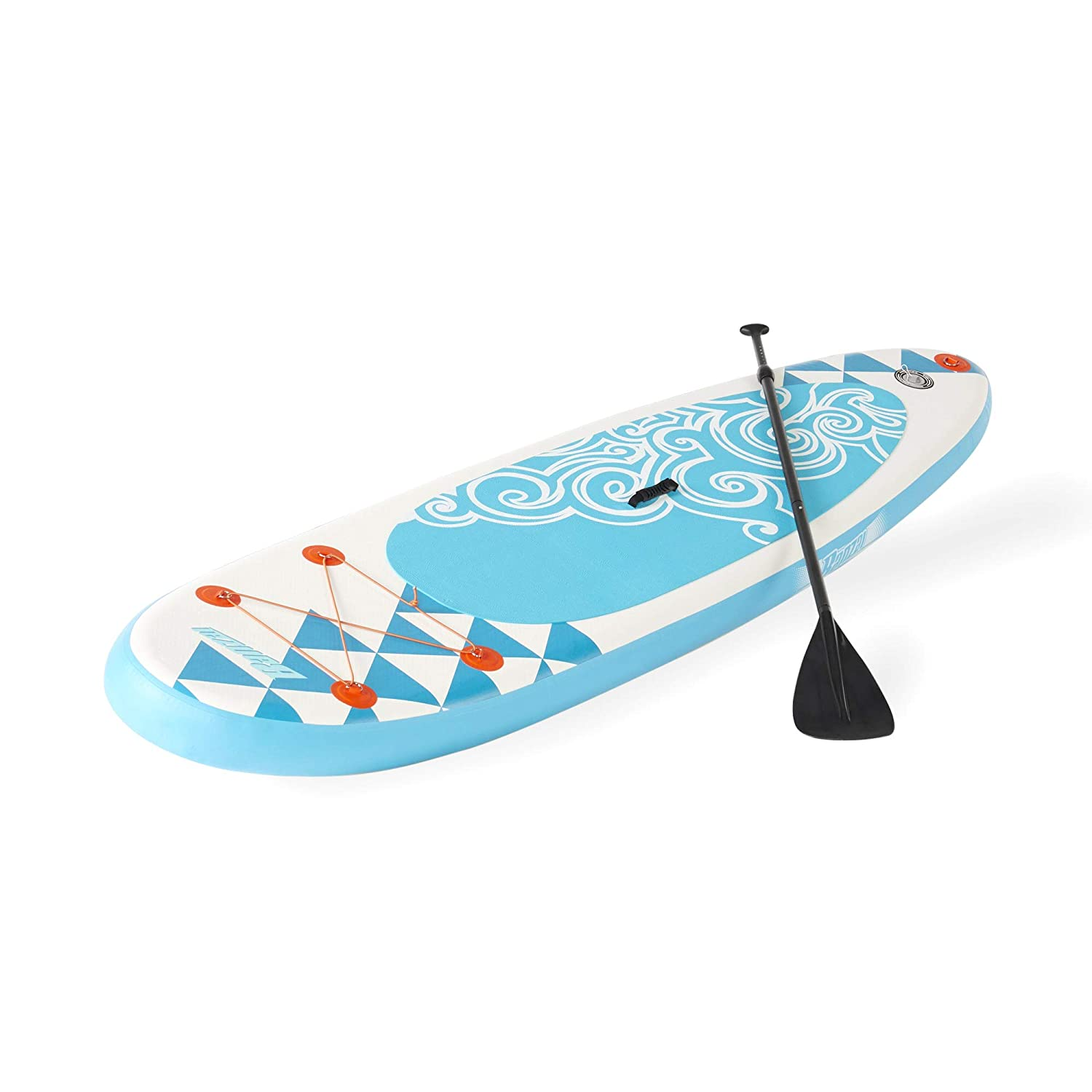 BANZAI Inflatable SUP Stand Up Paddle Board w/Adjustable Paddle & Backpack