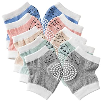 5 Pair Kneepads Breathable Non-slip Cotton Soft Knee Cushion Mat Sleeve for Baby
