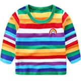 LittleSpring Little Boys' T-Shirt Rainbow