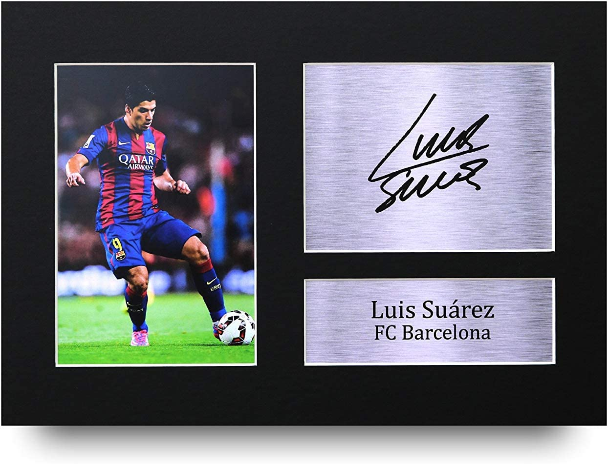 HWC Trading Luis Suarez Gift Signed A4 Printed Autograph Barcelona Gifts Print Photo Picture Display