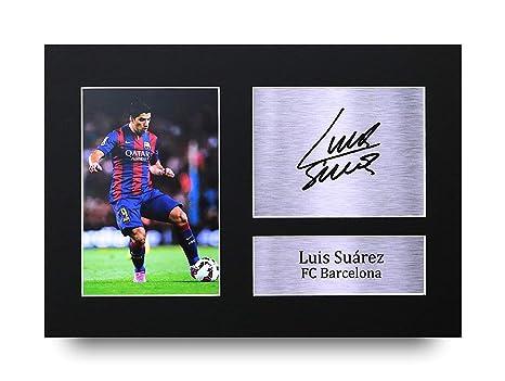 Luis Suarez Los Regalos Firmaron A4 la Dedicatoria Impresa Barcelona La Foto de Impresión Imagina la