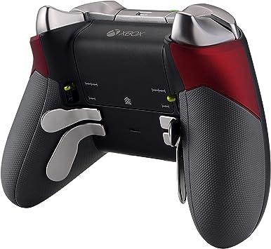 eXtremeRate Grips Grips Nắp đậy bên bằng cao su, Bộ thay thế vỏ hộp bên trái bên phải cho bộ điều khiển Xbox One Elite Gamepad (Mẫu 1698) - Đỏ