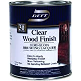 Clear Wood Finish Lacquer 1qt - Semi Gloss (Pack Of 4)