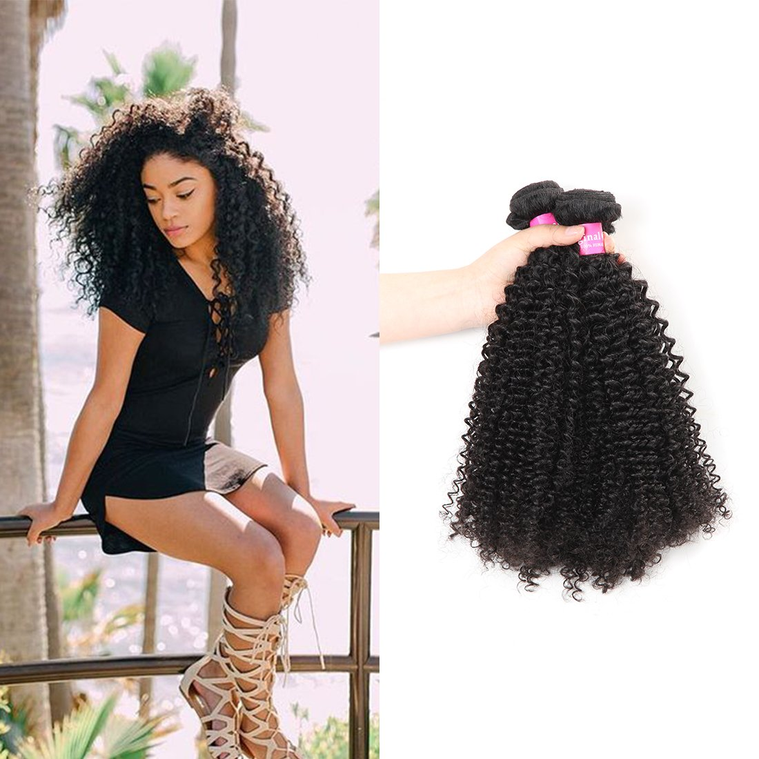 Outlet Original Queen Malaysian 100 Raw Kinky Curly Human Hair